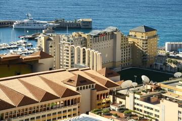 view over the principality monaco
