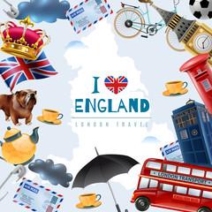 Love England Travel Background