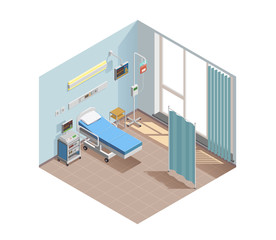 Resuscitation Room Isometric Composition