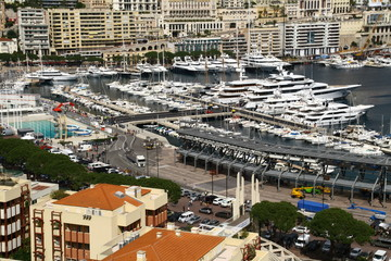 view over the prinipality of monaco
