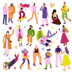 Street Fashion Icons Set