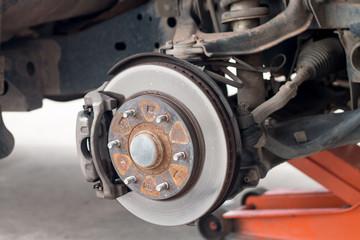 car suspension old repair
