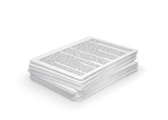 stack of paper, documents. 3d illustration
