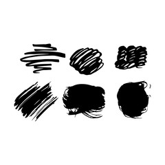Brush strokes set. Perfect design to decorate your greeting cards, posters, T-shirts, banners, print invitations.