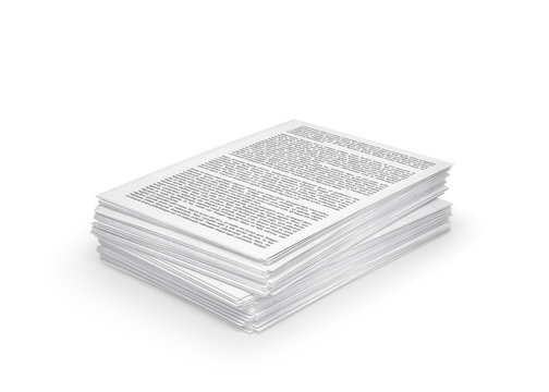 stack of paper, documents. 3d illustration