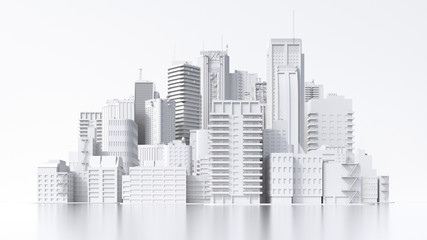 Model of a city, 3d rendering