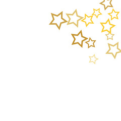 Magic gold stars confetti. Christmas and New Year falling stars background. Sparkling glitter celebration confetti decoration. Rich VIP premium design