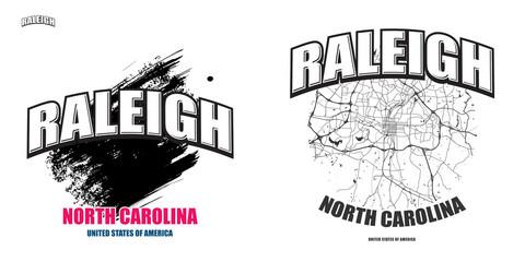 Raleigh, North Carolina, two logo artworks