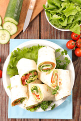 sandwich wrap with vegetable