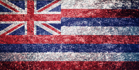 Texture of Hawaii flag on a marble tile.