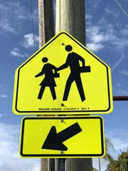 Crossing sign
