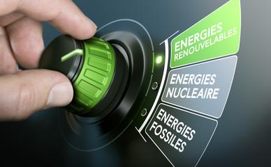 Transition énergétique et écologique. Passage de l'énergie fossile et nucléaire aux énergies renouvelables