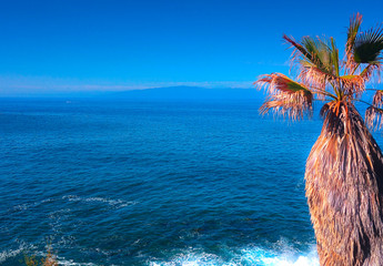 View of Gomera Island from Costa Adeje, Tenerife