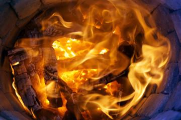 Fire in tandoor oven