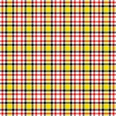 Checkered tartan yellow red beige stripes unisex seamless pattern