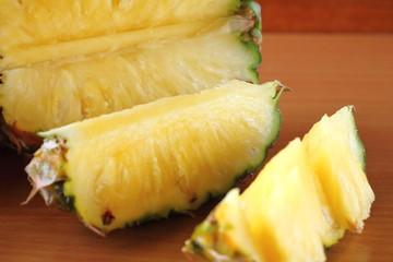 fresh pineapples in fruit