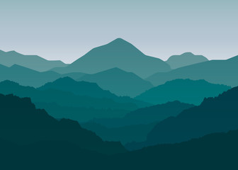Landscape mountains background