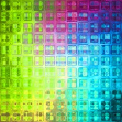 Beautiful vivid brigh colorful grid crystal icy glass tiles cubes mosaic design picture