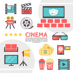Flat Cinematography Icons Collection
