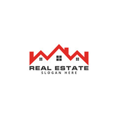 Real estate logo icon graphic template