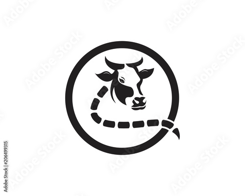 cow head icon logo vector template stock image and royalty free