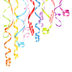 Streamers Color Party Background Corner