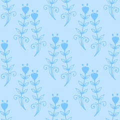Floral seamless swirl mehendi flower pattern background ornament vector illustration textile style tribal ornate.