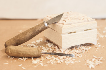working tool of woodcarver