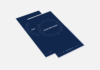 Trifold Brochure Layout With Constellation Design Elements