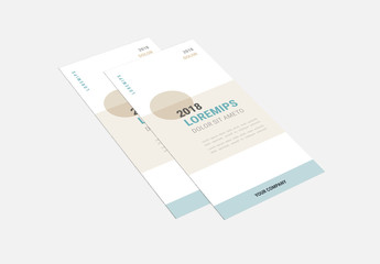 Pale Blue Trifold Brochure Layout with Tan Accents
