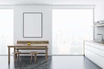 Scandinavian style loft kitchen interior, poster