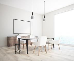 Classic dining room corner horizontal poster frame
