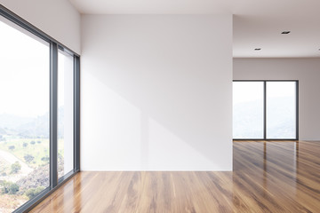 White wall loft empty room interior