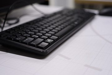 Computer Keyboard on the table