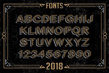 Fonts in attractive design