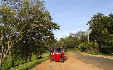 Red Tuc Tuc in Sri Lanka