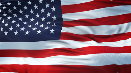 USA Realistic Waving Flag Background