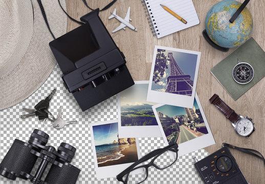 Travel Header Scene Creator with Photo Mockups