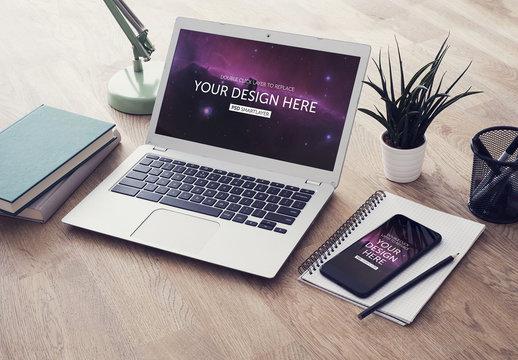 Laptop and Smartphone website mockup