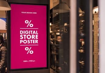 Digital Store Poster Mockup