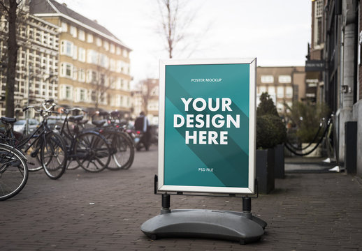 Outdoor Store Sign poster mockup