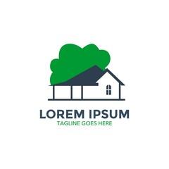home garden logo vector design