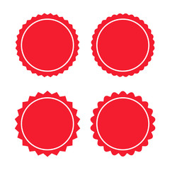 Round sticker set vector illustration on white background