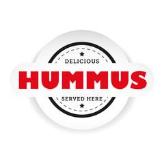 Hummus vintage stamp sign