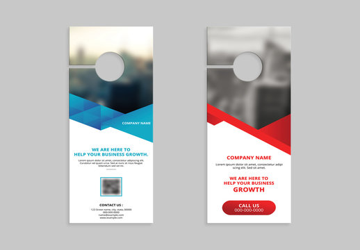 Corporate Door Hanger Layout