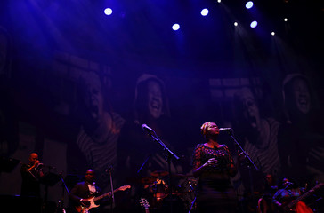 Musicians perform during the Africa Day celebration dubbed 'The Liberation concert' in Johannesburg, South Africa