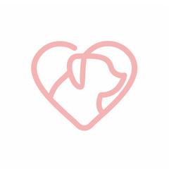 Love Pet Logo Design Element Template