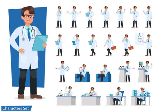 Set of Doctor character design. no2
