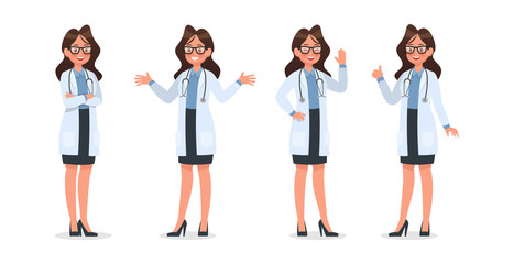 Set of Doctor character design. no11