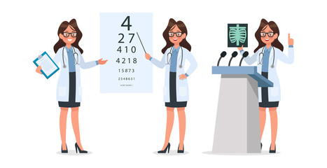 Set of Doctor character design. no15